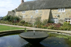 The pond and fountain